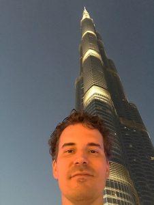 Selfie Burj Khalifa UAE