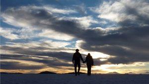 Uyuni Desert walking Bolivia