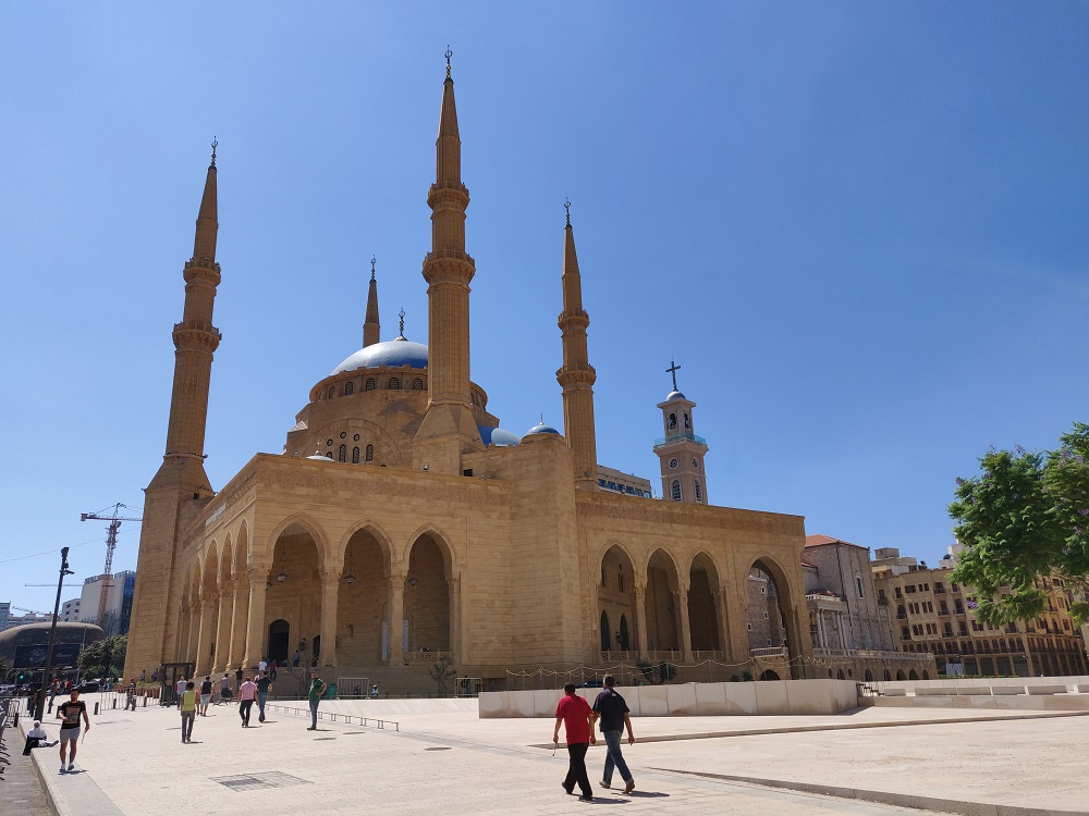 Beirut mosque martyr square