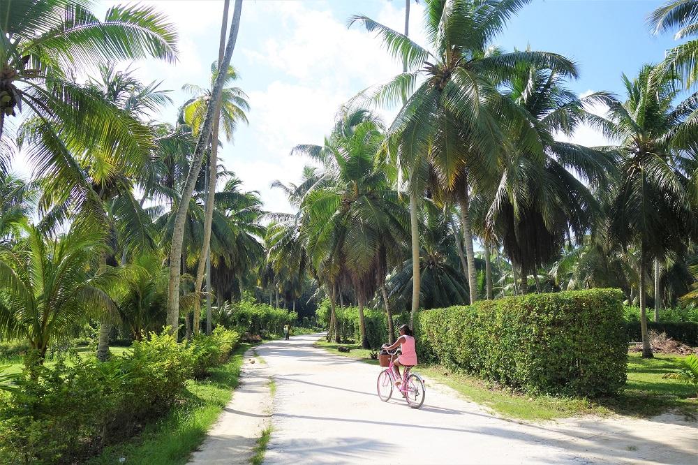 Cycling on La Digue