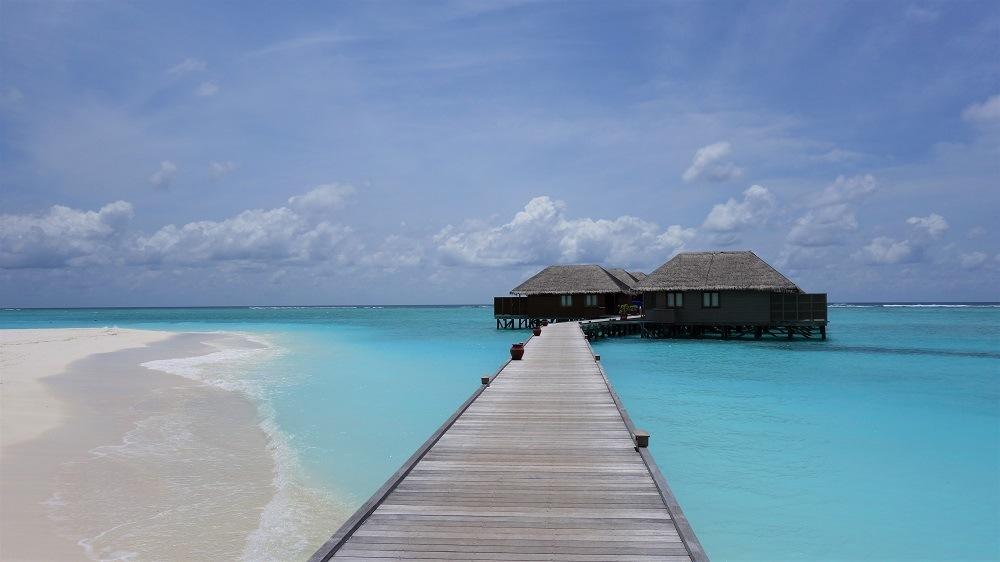 Maldives stilt houses