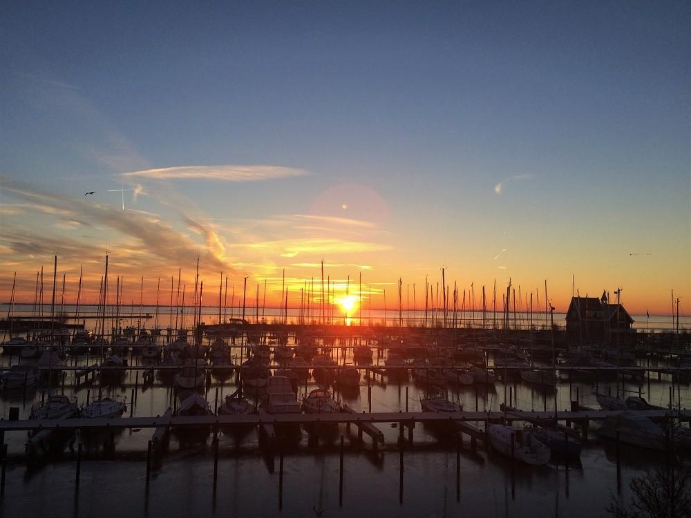 Volendam Marina Sunset