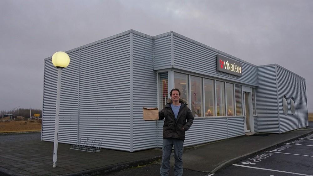 Iceland alcohol shop