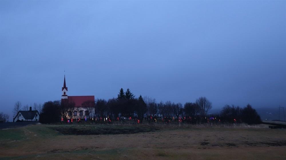 Iceland illuminated Graveyard
