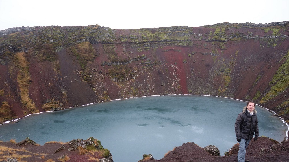 Kerid crater Golden Circle Iceland