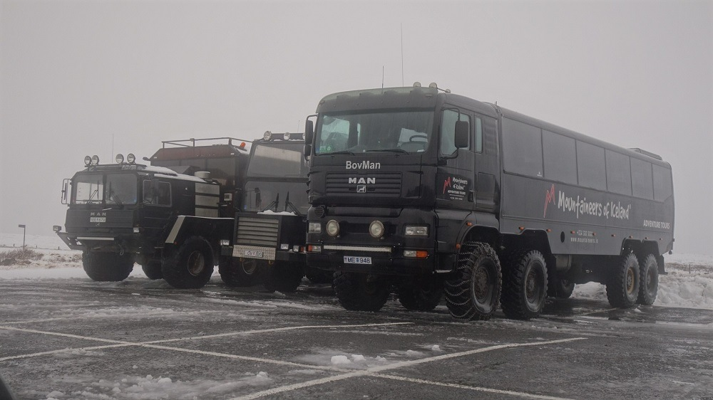 Iceland special ice vehicles