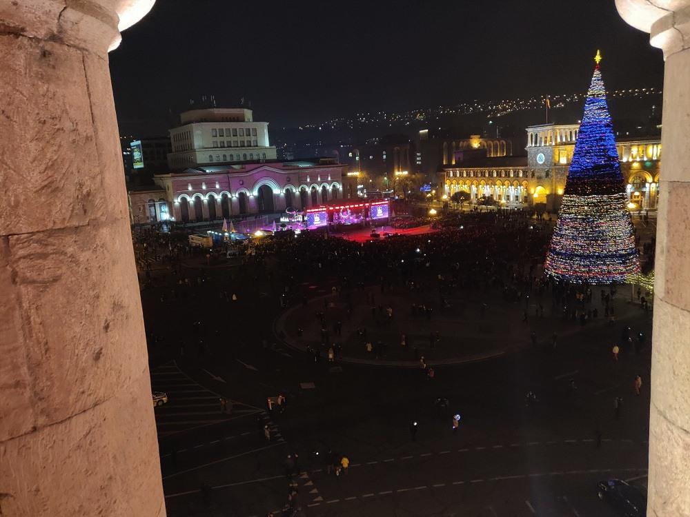 New Year Yerevan Republic Square