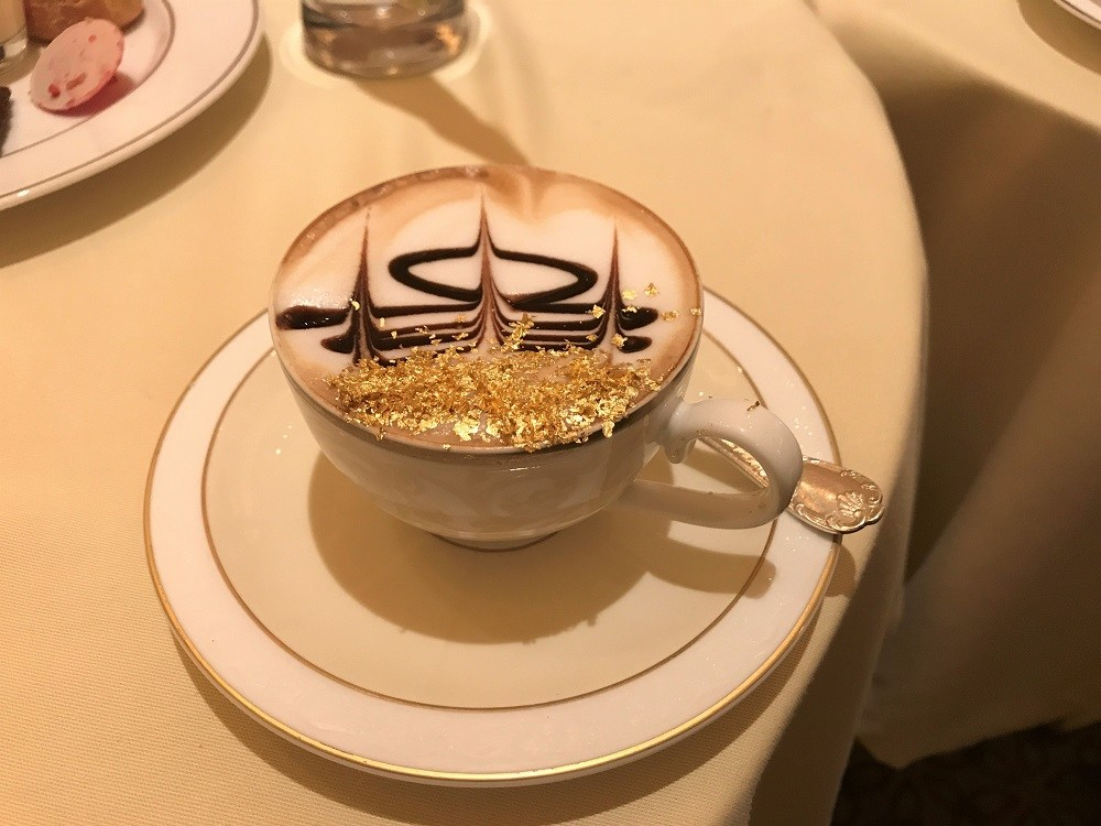 Emirates Palace gold flaked cappuccino