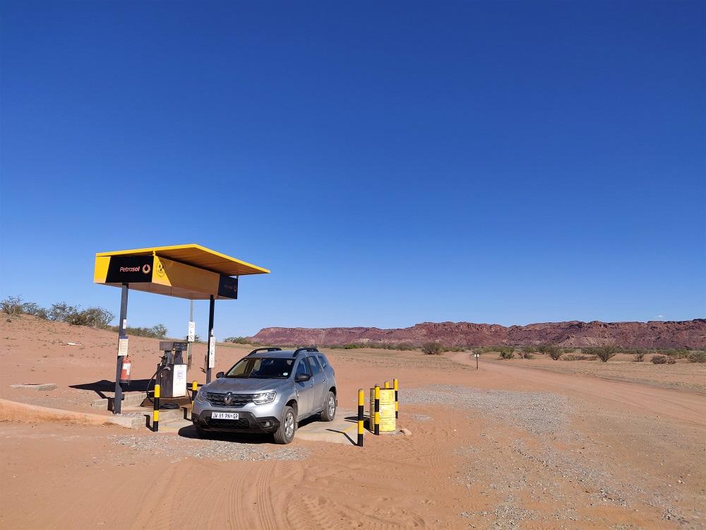 Twyfelfontein gas station Namibia