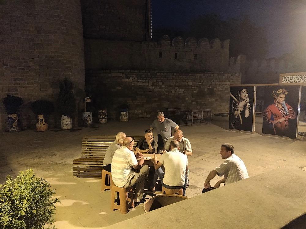 Backgammon Baku old city